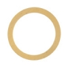 Metal Blank 24ga Brass Washer-round 31mm With Hole